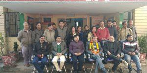 विदाई कार्यक्रम के दौरान मौजूद जिला उद्योग केंद्र के अधिकारी-कर्मचारी
